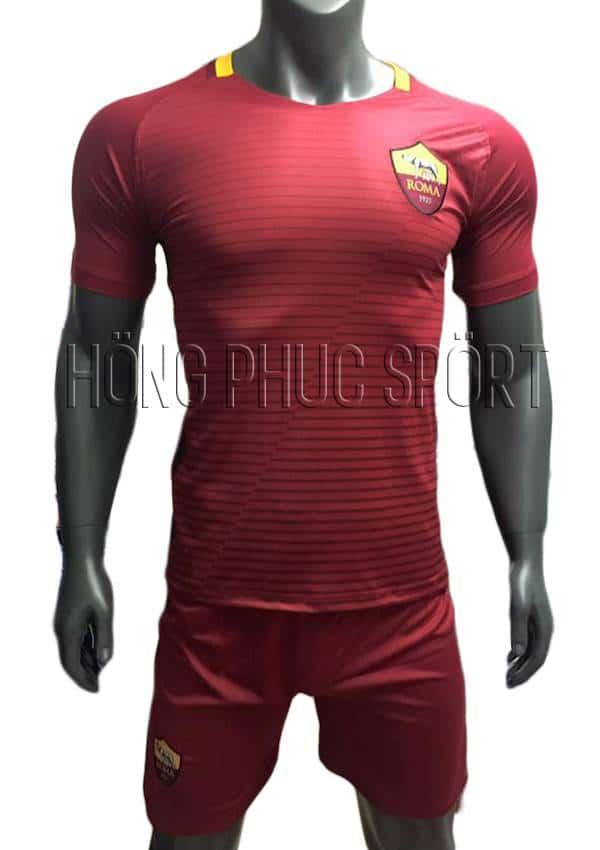 Bộ quần áo AS Roma 2016 2017 sân nhà đỏ bã trầu