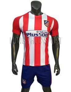 Mẫu áo Atletico Madrid 2016 2017 sân nhà sọc đỏ trắng