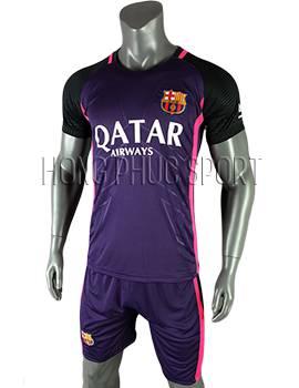 mẫu áo barcelona 2016 2017 mầu tím sân khách