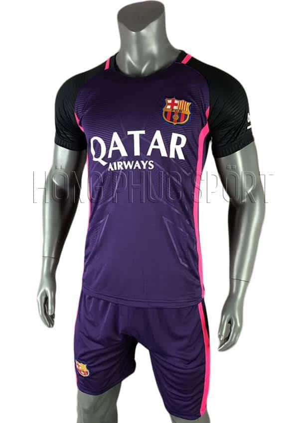 Bộ quần áo barcelona 2016 2017 mầu tím sân khách