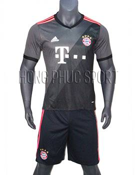 Mẫu áo Bayern Munich 2016 2017 sân khách Thái Lan Super Fake mầu xám