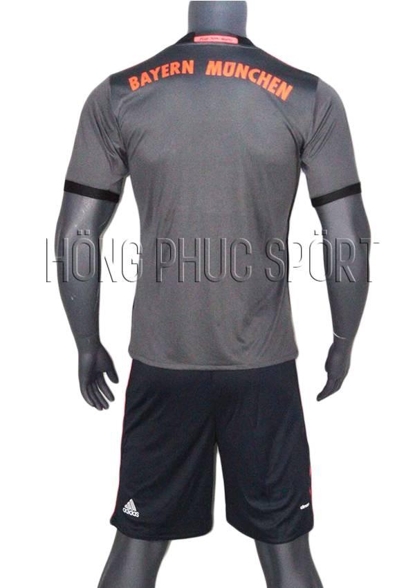 Bộ quần áo Bayern Munich 2016 2017 sân khách Thái Lan Super Fake mầu xám - Mặt sau