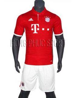 Mẫu áo Bayern Munich 2016 2017 sân nhà Thái Lan Super Fake mầu đỏ