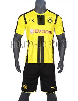 Mẫu áo Dortmund 2016 2017 sân nhà vàng sọc đen Thái Lan Super Fake