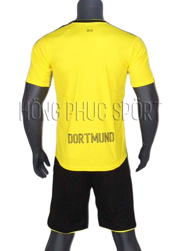 Bộ quần áo Dortmund 2016 2017 sân nhà vàng sọc đen Thái Lan Super Fake - Mặt sau