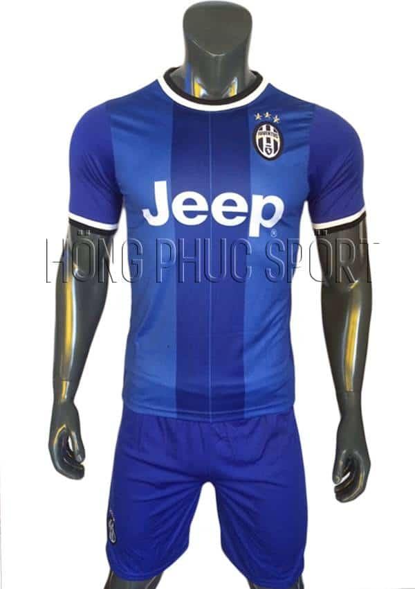 Bộ quần áo Juventus 2016 2017 sân khách mầu xanh