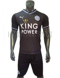Mẫu áo đấu Leicester City 2016 2017 sân khách mầu đen