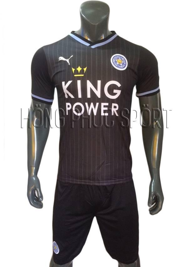Bộ quần áo đấu Leicester City 2016 2017 sân khách mầu đen