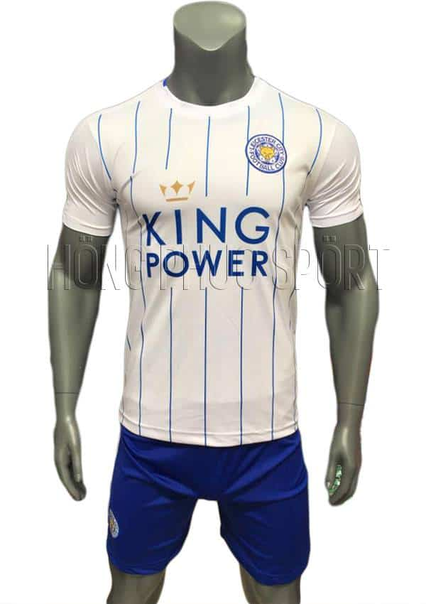 Bộ quần áo Leicester City 2016 2017 sân khách mầu trắng mẫu thứ 3