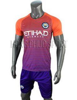 Mẫu áo Manchester City 2016 2017 sân khách mầu cam mẫu thứ 3