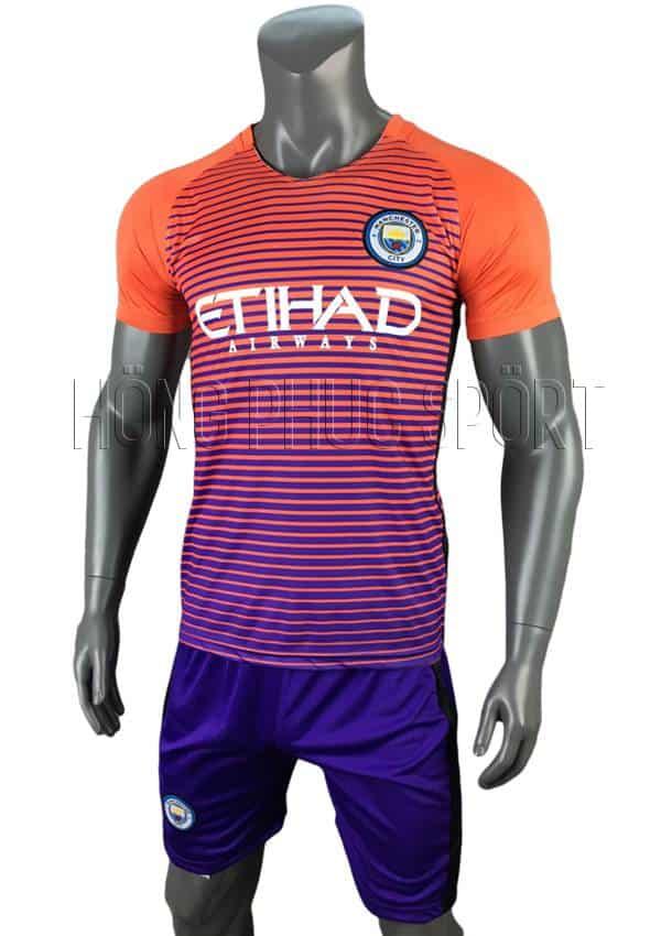 Bộ quần áo Manchester City 2016 2017 sân khách mầu cam mẫu thứ 3