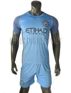 Mẫu áo Man City 2016 2017 sân nhà xanh biển