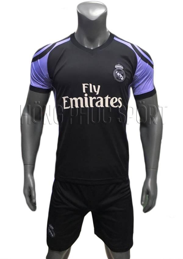 Bộ quần áo Real Madrid 2016 2017 sân khách tím than