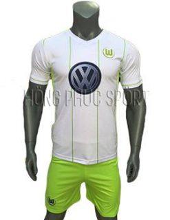 Mẫu áo Wolfsburg 2016 2017 trắng sân khách