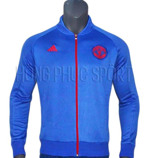 Mẫu áo khoác Mu 2016 2017 màu xanh