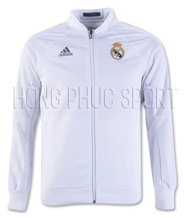 Áo khoác Real Madrid 2016 2017 màu trắng