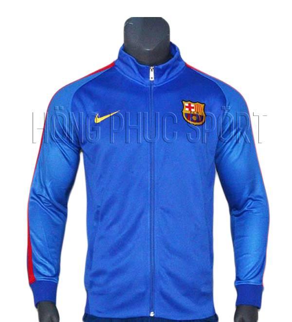 Mẫu áo khoác Barcelona 2016 2017 màu xanh