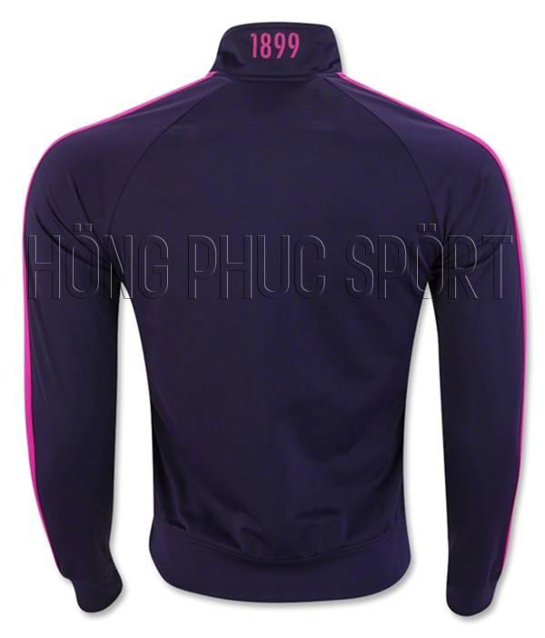 Áo khoác Barcelona 2016-2017 màu đen tím - Mặt sau