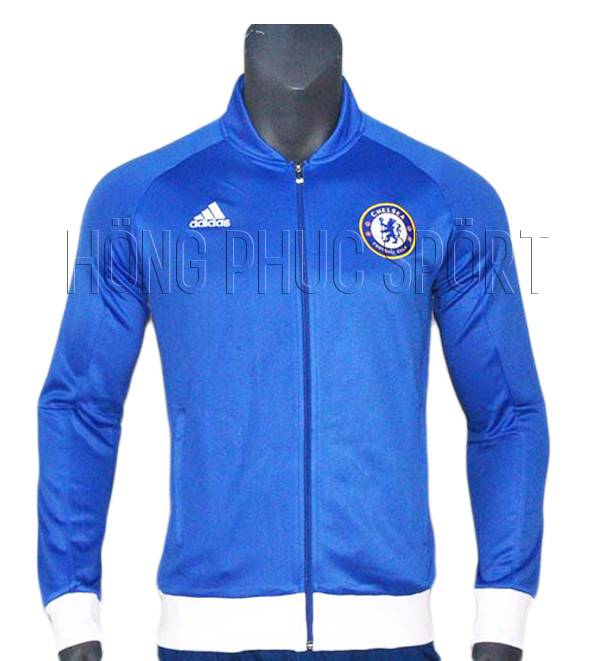 Mẫu áo khoác Chelsea 2016 2017 màu xanh