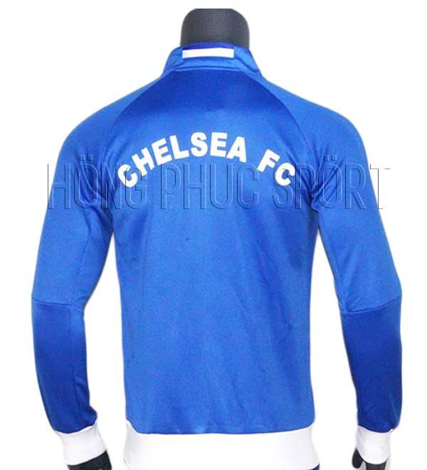 Mẫu áo khoác Chelsea 2016-2017 màu xanh - Mặt sau