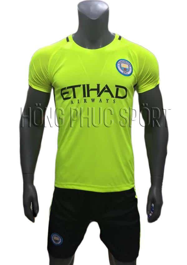 Bộ quần áo thủ môn Man City 2016 2017 xanh chuối