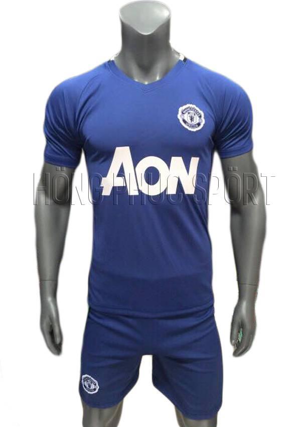 Bộ quần áo training Manchester Unted 2016 2017 mầu xanh