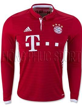 Áo đấu Bayern Munich tay dài 2016 2017 sân nhà mầu đỏ