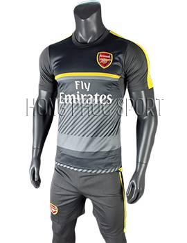 Bộ quần áo bóng đá training Arsenal 2016 2017 xám đen
