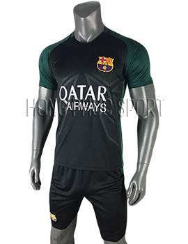 áo training Barcelona 2016 2017 đen phối xanh