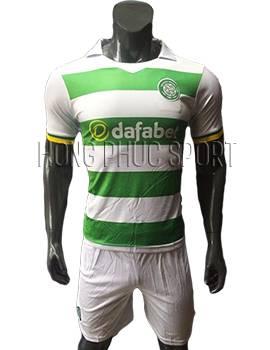Mẫu áo đấu Celtic 2016 2017 sân nhà xanh sọc trắng