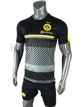 Áo training Dortmund 2016 2017 xám đen