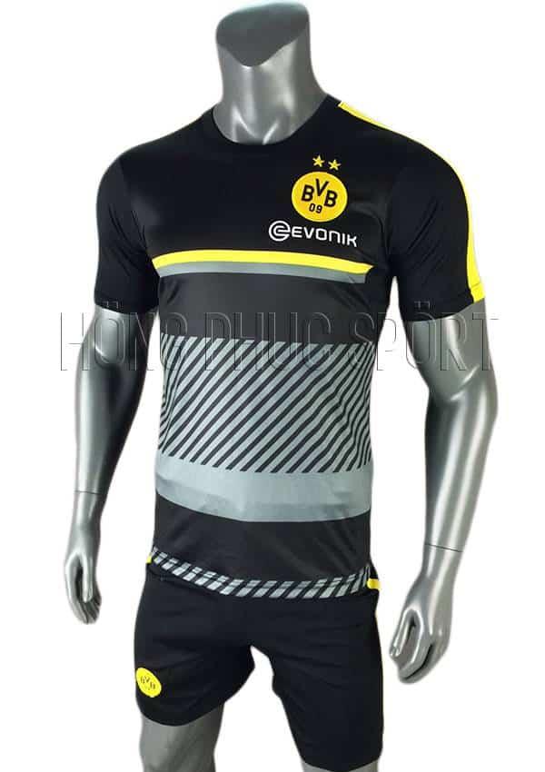 Bộ quần áo training Dortmund 2016 2017 xám đen