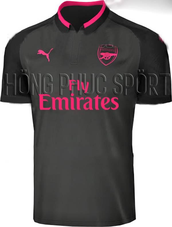 Áo Arsenal 2017 2018 mẫu thứ ba màu xám