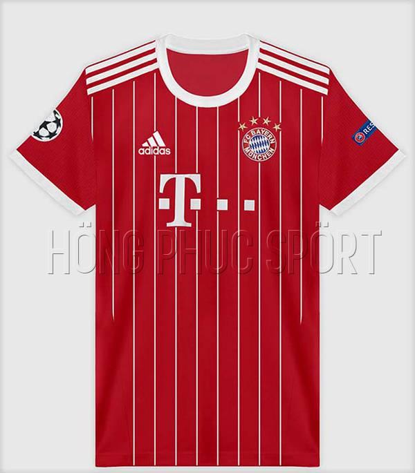 Bộ quần áo đấu Bayern Munich 2017 2018 sân nhà màu đỏ
