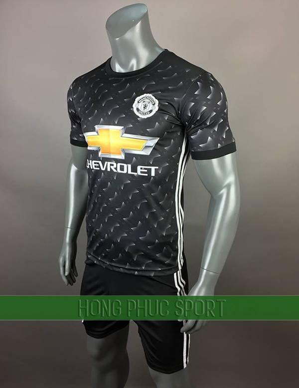 Bộ quần áo đấu Manchester United 2017 2018 sân khách màu đen