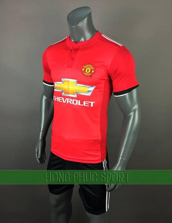 Bộ quần áo đấu Manchester United 2017 2018 sân nhà màu đỏ