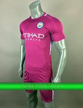 Mẫu áo đấu Manchester City 2017 2018 sân khách màu tím