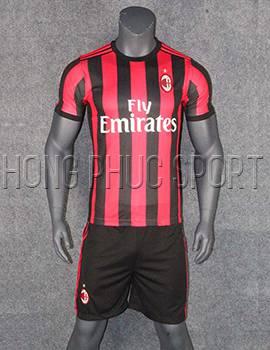 Mẫu áo đấu AC Milan 2017 2018 sân nhà