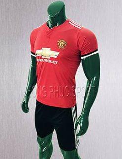 Mẫu áo đấu Manchester United 2017 2018 sân nhà màu đỏ