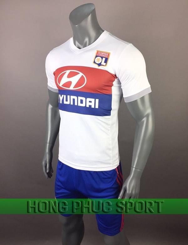 Bộ quần áo đấu Olympic Lyon sân nhà 2017 2018 màu trắng