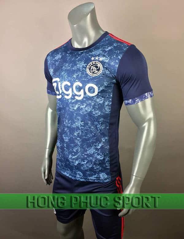 Bộ quần áo đấu Ajax sân khách 2017 2018 xanh tím than