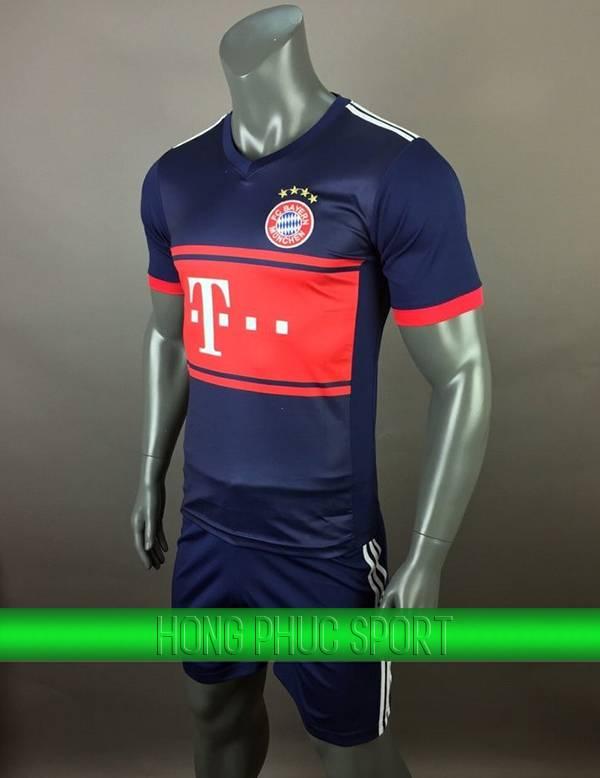 Bộ quần áo đấu Bayern Munich mùa giải 2017- 2018 sân khách tím than