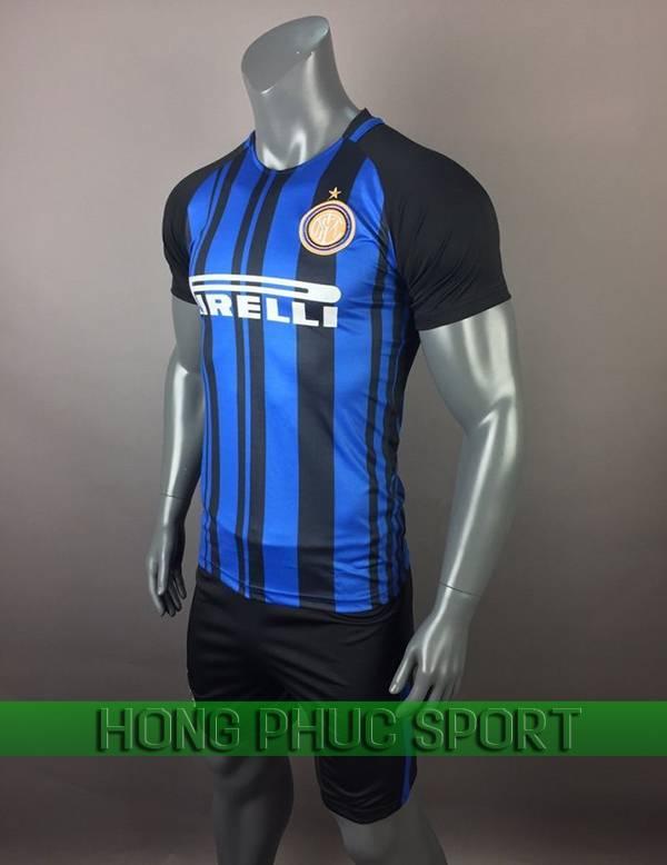 Bộ quần áo đấu Inter Milan sân nhà 2017 2018 xanh sọc đen