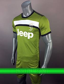 Áo đấu Juventus 2017 2018 mẫu thứ ba xanh rêu