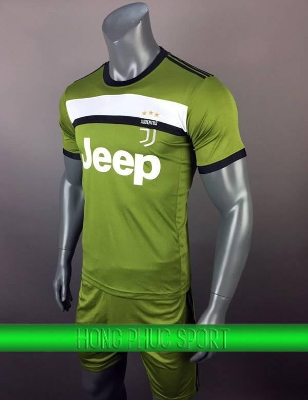 Bộ quần áo đấu Juventus 2017 2018 mẫu thứ ba xanh rêu