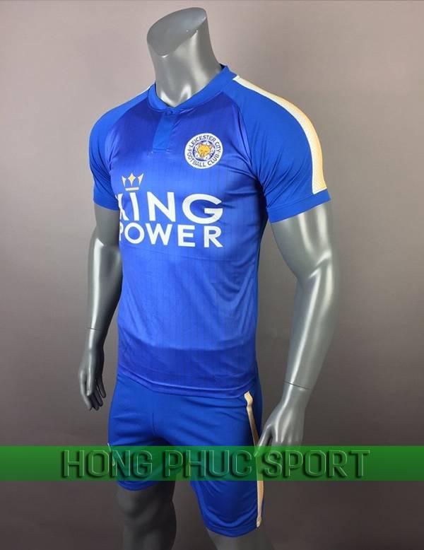 Bộ quần áo đấu Leicester City sân nhà 2017 2018 xanh bích