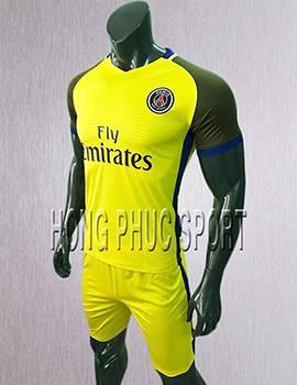 Mẫu áo đấu PSG 2017 2018 sân khách màu vàng