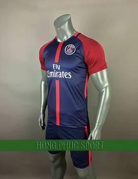 Mẫu áo đấu PSG 2017 2018 sân nhà tím phối đỏ đô