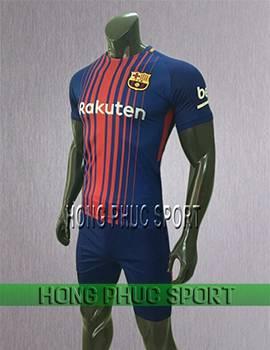 Mẫu áo đấu Barcelona 2017 2018 sân nhàRakuten