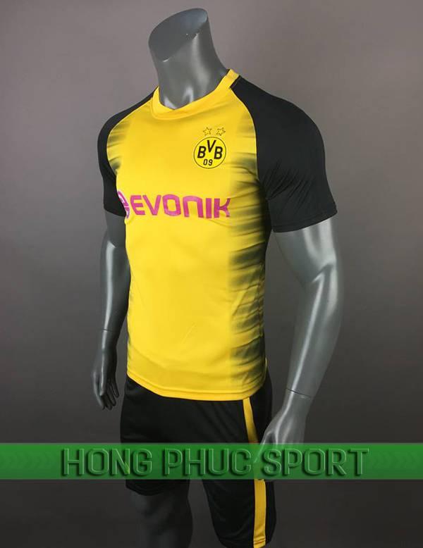 Bộ quần áo đấu Dortmund C1 2017 2018 màu vàng phối đen